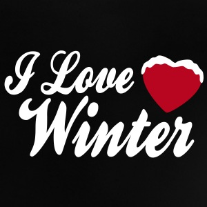 I love winter with heart 2c T-shirts - Baby-T-shirt