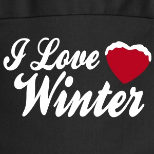 I love winter with heart 2c Kookschorten - Keukenschort