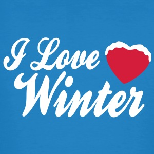 I love winter with heart 2c T-shirts - Ekologisk T-shirt herr