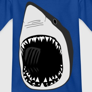 white shark jaws sharks fish fishing scuba diving Shirts - Teenage T-shirt