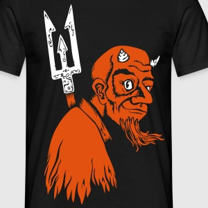 devil male flockprint (only on dark shirts) - Männer T-Shirt