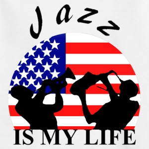 jazz is my life Shirts - Kinderen T-shirt