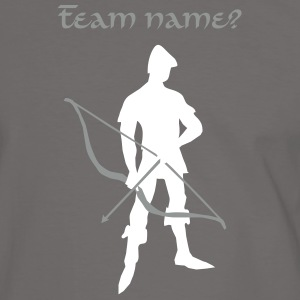 Archer with recurve bow by patjila T-shirts - Mannen contrastshirt