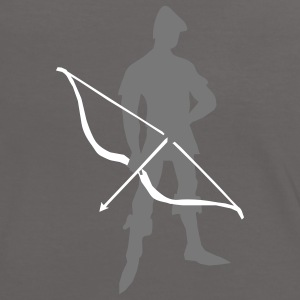 Archer with recurve bow by patjila T-Shirts - Women's Ringer T-Shirt