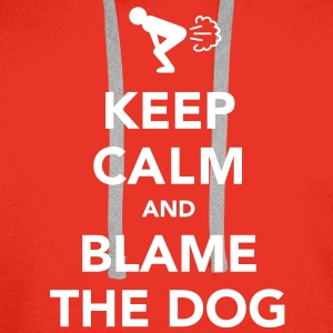 Keep Calm and Blame the Dog - Men's Premium Hoodie