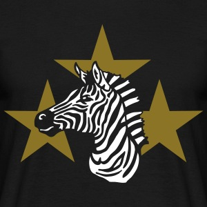 zebra_on_black T-Shirts - Men's T-Shirt
