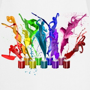 Dance of paints - 9 colors T-Shirts - Kochschürze