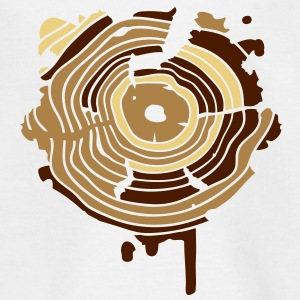 The annual rings of a tree as a graffiti Shirts - Kids' T-Shirt