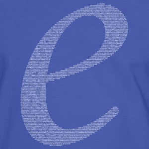 Numbers in decimals: Natural Constant e T-Shirts - Men's Ringer Shirt