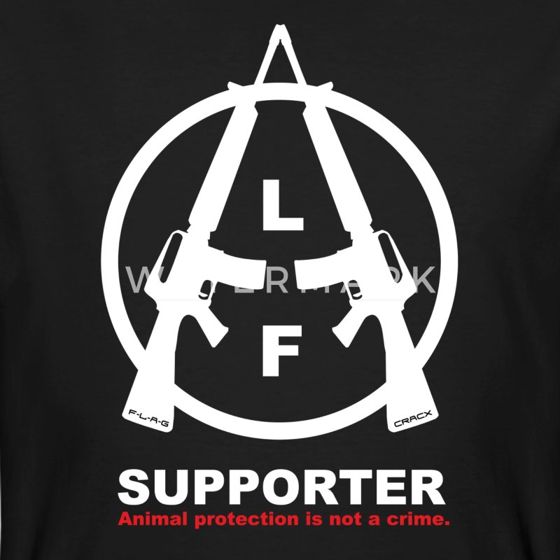 Animal Liberation Front Support - Männer Bio-T-Shirt