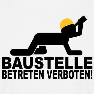 suchbegriff baustelle betreten verboten geschenke spreadshirt. Black Bedroom Furniture Sets. Home Design Ideas