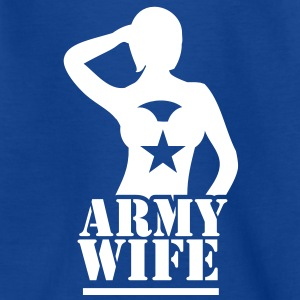SEXY lady ARMY WIFE saluting Shirts - Kids' T-Shirt