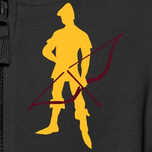Archer with recurve bow by patjila Sweaters - Kinderen Premium jas met capuchon