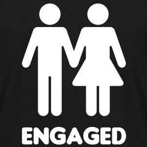 Engaged Couple - WC Style - Men's T-Shirt