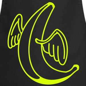 Flying banana with angel wings  Aprons - Cooking Apron