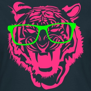 Tiger Kopf Nerd Brille Internet 2c T-Shirts - Frauen T-Shirt