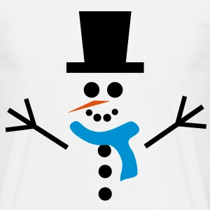 Snowman, big - Men's T-Shirt
