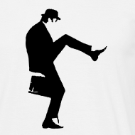 Design ~ John Cleese Plain Silly Walk Men's Shirt