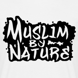 muslim by nature logo T-Shirts - Männer T-Shirt