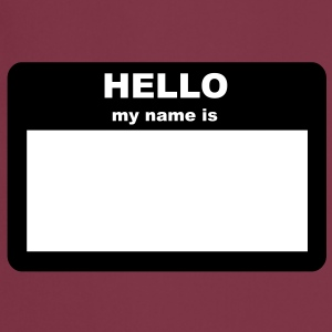 Name tag - HELLO my name is  Aprons - Cooking Apron