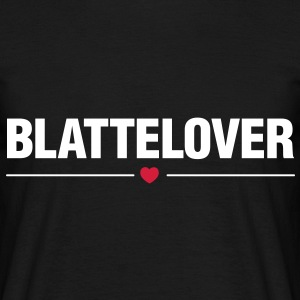 Blattelover - Vit text - T-shirt herr