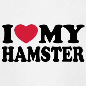 I love my hamster Shirts - Kinderen T-shirt