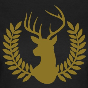 Hirsch Lorbeerkranz | Deer Laurel wreath T-Shirts - Frauen T-Shirt