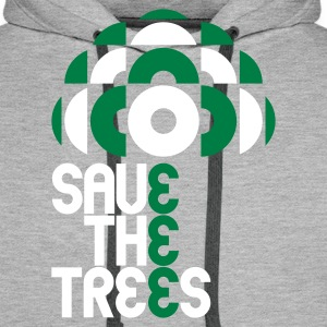 Heather grey save trees Hoodies & Sweatshirts - Men's Premium Hoodie