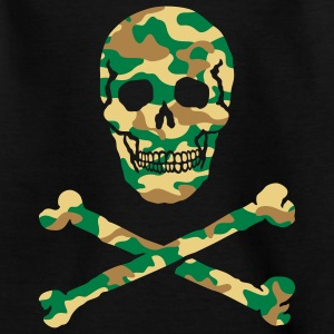 Skull & Bones / Camouflage, T-Shirt - Teenage T-shirt