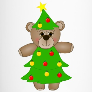 Teddy Bear Dressed as a Christmas Tree Travel Mug - Travel Mug
