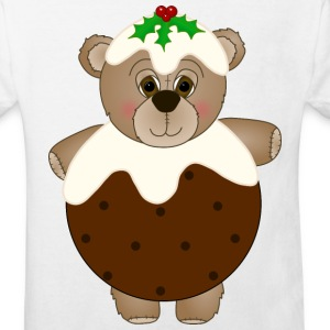 Teddy Bear Dressed as a Christmas Pudding T-Shirt - Kids' Organic T-shirt