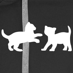 Two Kittens Playing Hoodies & Sweatshirts - Men's Premium Hooded Jacket