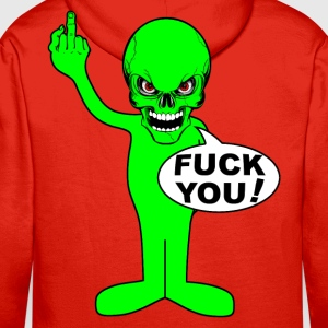 fuck you alien Hoodies & Sweatshirts - Men's Premium Hoodie