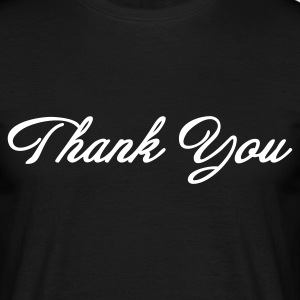 Thank You Script (1c, MPde) - Männer T-Shirt