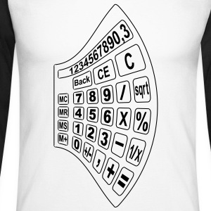 math calculator 2 Long sleeve shirts - Men's Long Sleeve Baseball T-Shirt