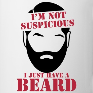 I'm not SUSPICIOUS I just have a BEARD! Bottles & Mugs - Mug