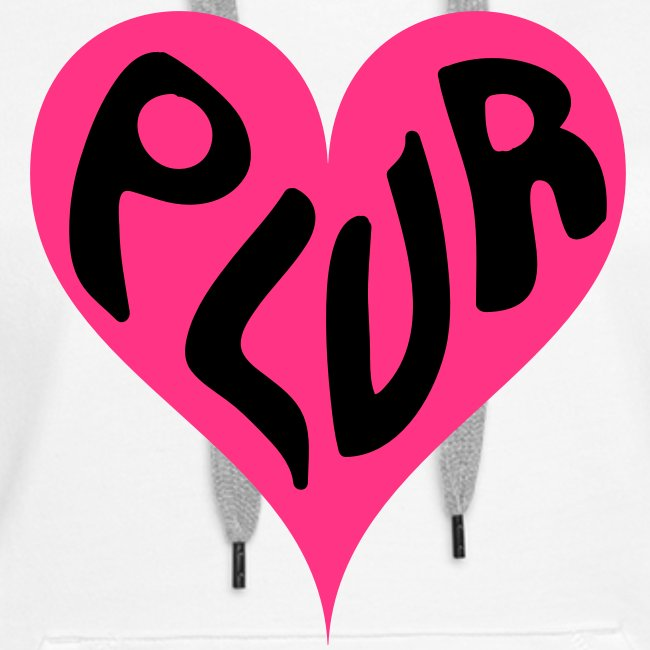 PLUR Raver Mantra in a Heart