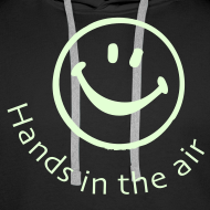 Design ~ Hands in the Air Smiley Face. Glow in the dark
