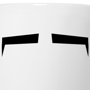 Slits for eyes or Eyebrows background shape Bottles & Mugs - Mug