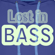Design ~ Lost in Bass. Glow in the dark print
