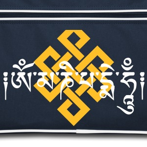 Mantra Om Ma Ni Padme Hum Endless Knot t -shirt  Bags & backpacks - Retro Bag