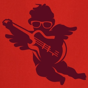 A cherub with cool glasses and an electric guitar  Aprons - Cooking Apron