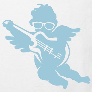 A cherub with cool glasses and an electric guitar Shirts - Kids' Organic T-shirt