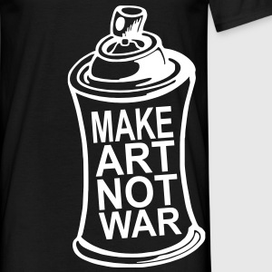 make art not war T-Shirts - Männer T-Shirt