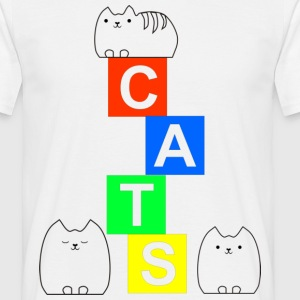 Cute cats and blocks T-Shirts - Men's T-Shirt