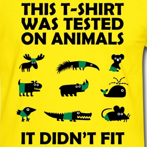Tested on Animals - Didn't Fit T-Shirts, lustige Sprüche T-Shirts - Männer Kontrast-T-Shirt