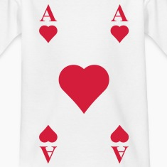 ace of hearts, playing card  Shirts