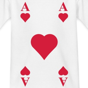 ace of hearts, playing card  Shirts - Kids' T-Shirt
