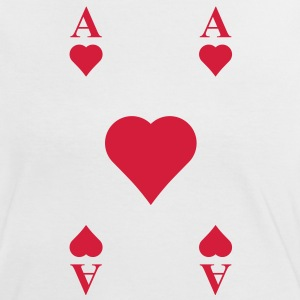 ace of hearts, playing card  T-Shirts - Women's Ringer T-Shirt