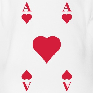ace of hearts, playing card  Shirts - Organic Short-sleeved Baby Bodysuit
